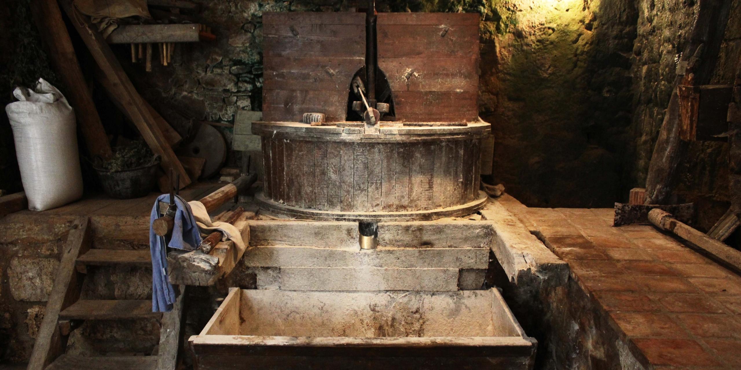 Molí fariner, hidraulic, funcionament